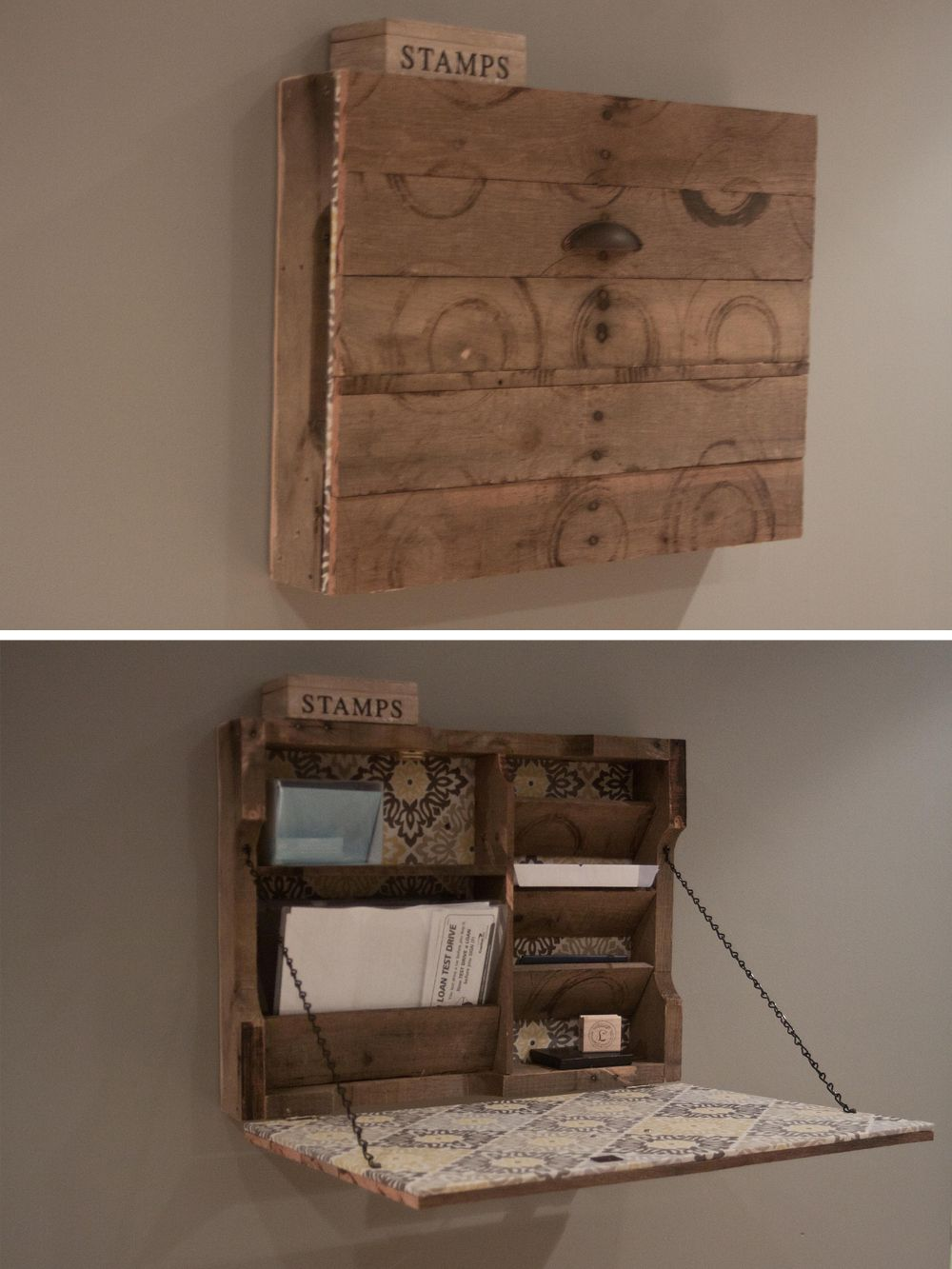 Pallet Wall Secretary   Wood pallet projects, Home diy ...