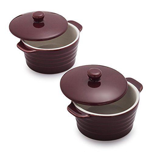 Sur La Table Stoneware Mini Cocottes M913 Win Set Of 2 Wine For