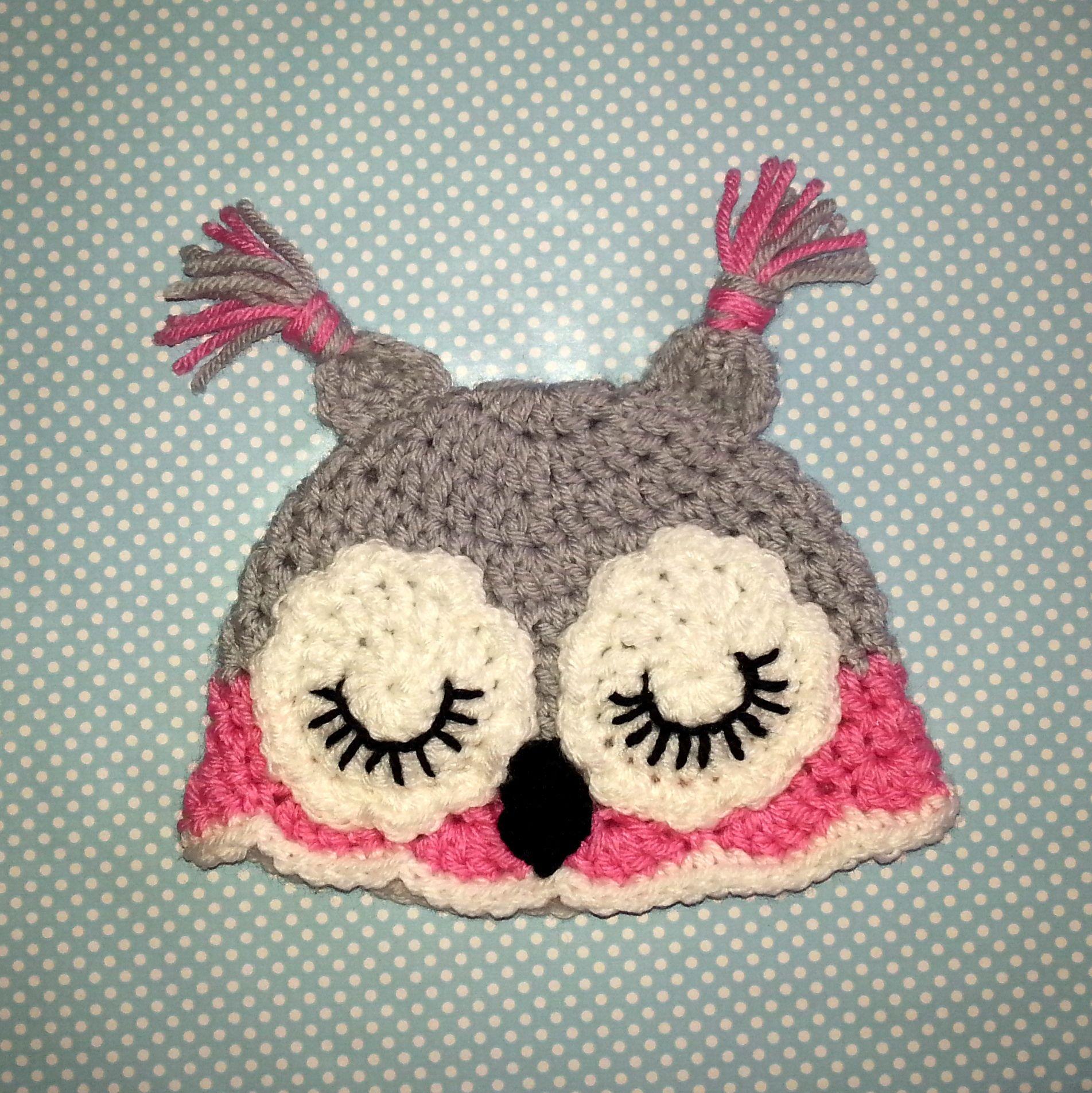 Crochet baby girl owl hat crochet pinterest baby girl owl crochet baby girl owl hat bankloansurffo Image collections