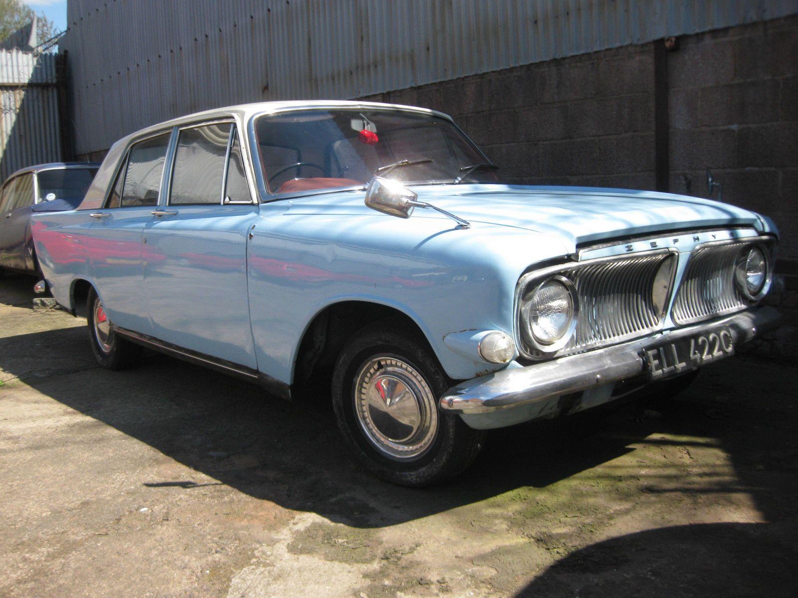Ford Zephyr V6 Blue White Ebay Ford Zephyr Old Fords Classic