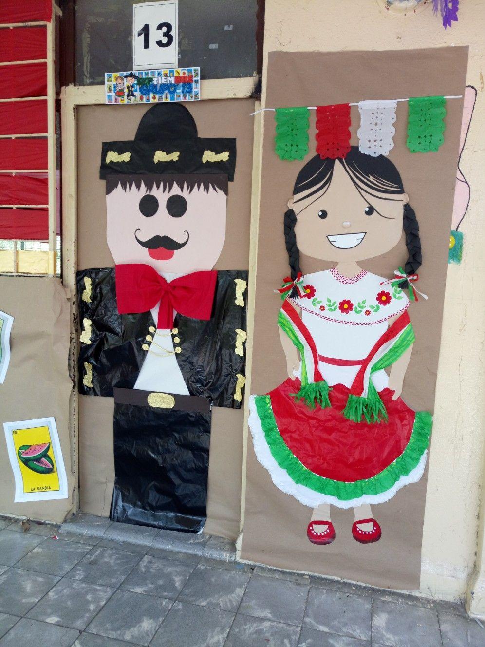 Septiembre m xico style fiesta mexicana d a de la for Decoracion de puertas de salones