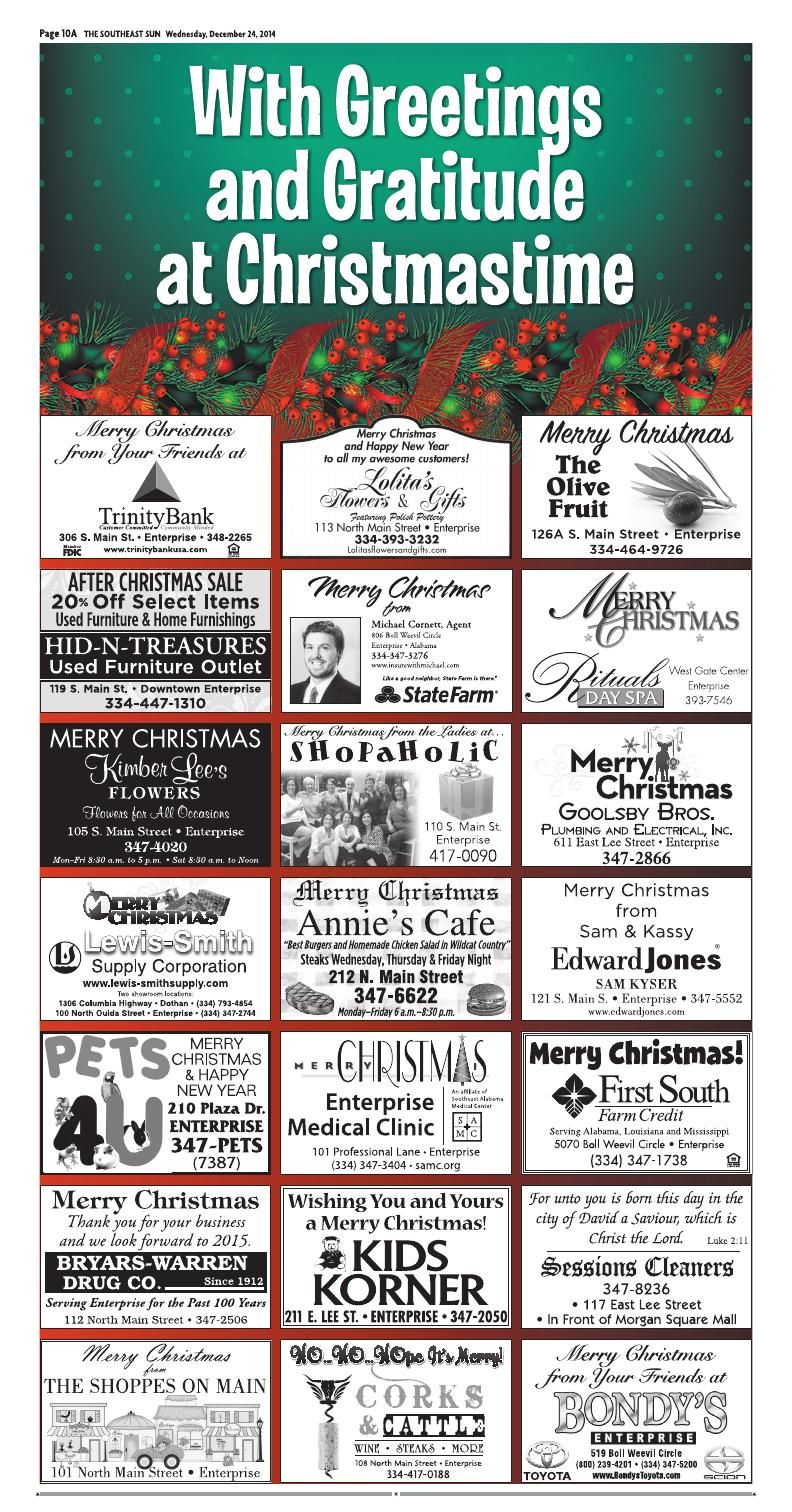 Page A10 The Southeast Sun Eedition Spa Day After Christmas Southeast