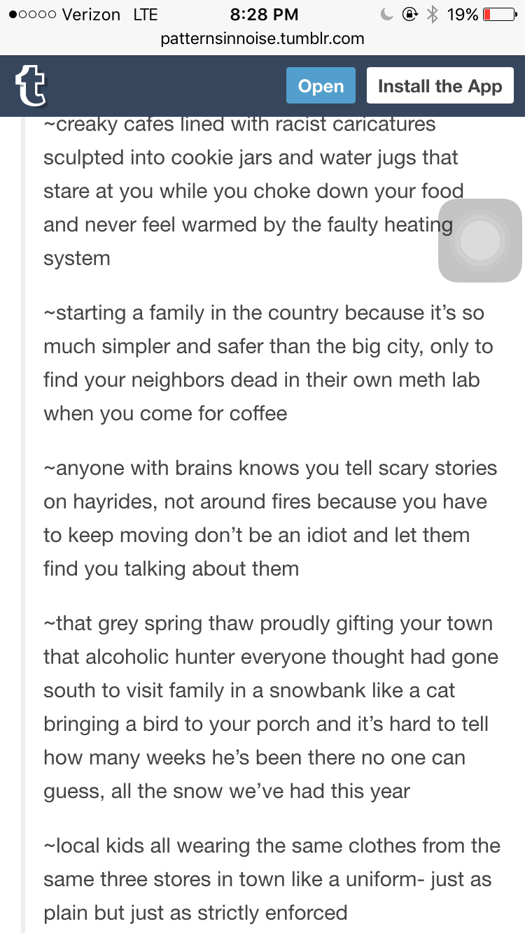 Small Town in the country gothic | Future story ideas