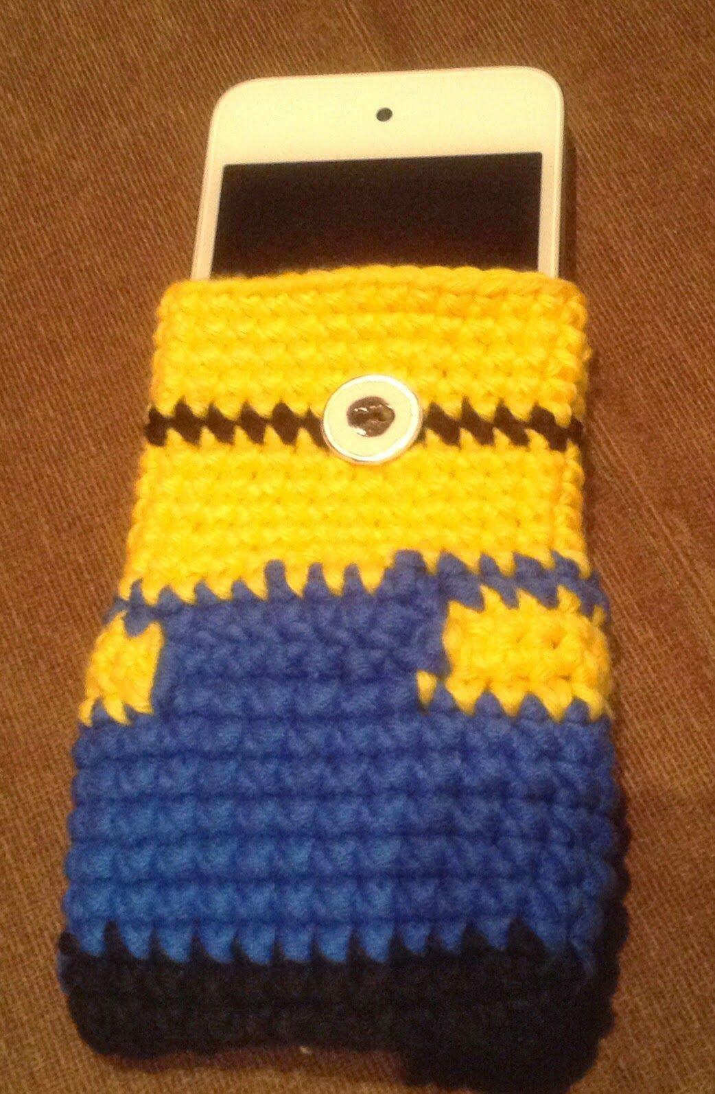 Annies DIY: IPod-Hülle Minion despicable me Phone Cozy crochet ...