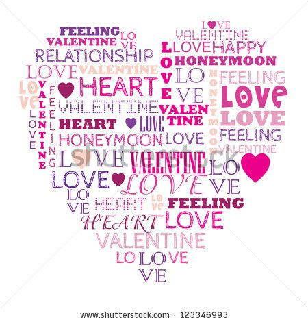 Heart Word Collage | Word Collages | Pinterest | Word ...