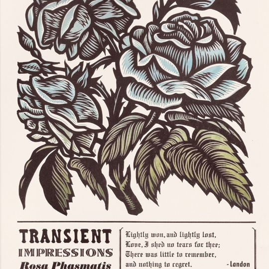 Floral woodcut / letterpress poster print by Cannonball Press