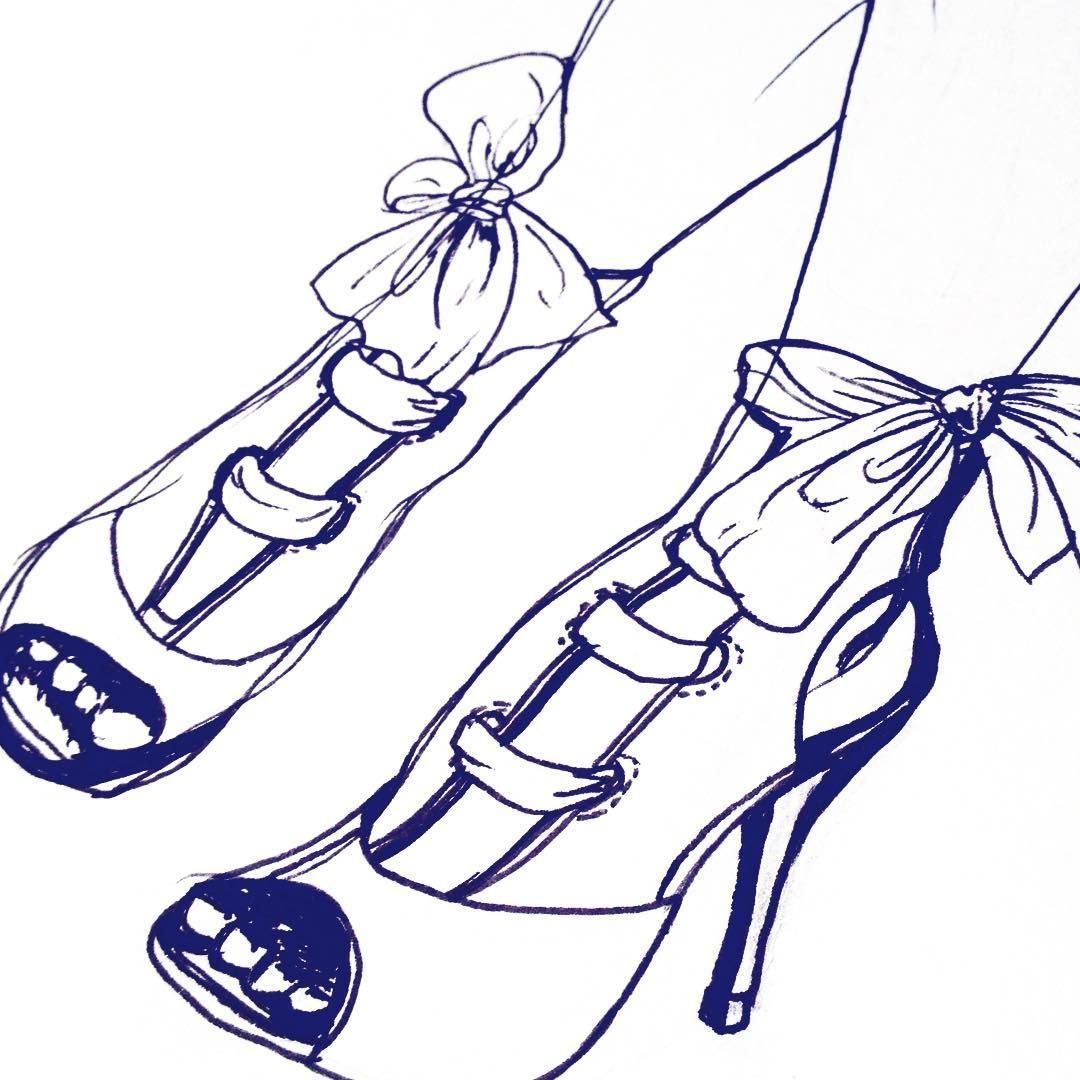 Shoes I Was All Eager To Get Started On Colouring Until My Scanner Decided To Break Fashionillustration Fashion Illus In 2020 Drawings Illustration Insta Art
