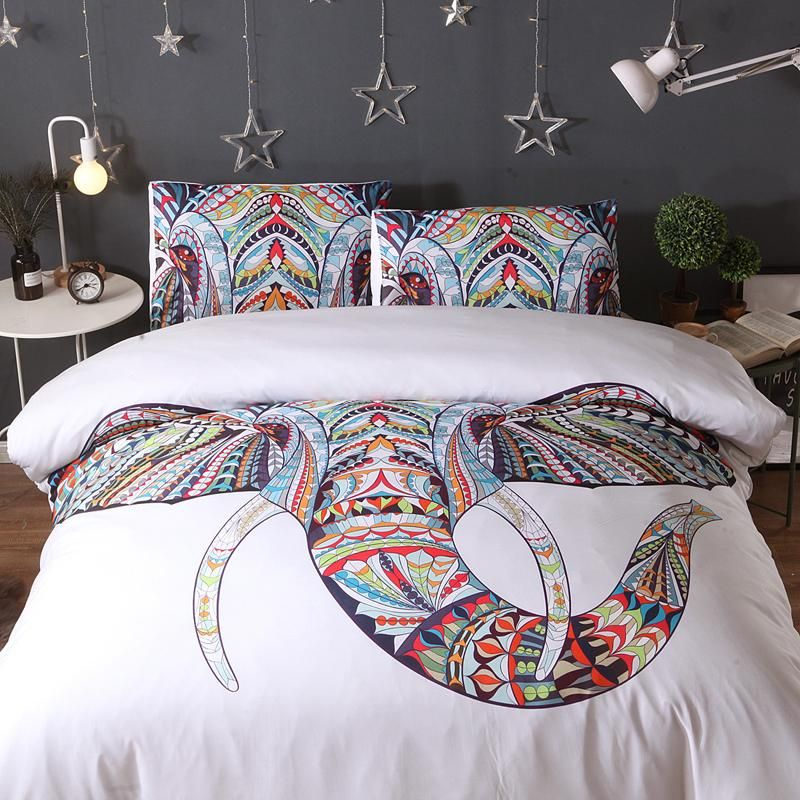 African Elephant Bobo Cotton And Polyester W1386 Duvet Cover