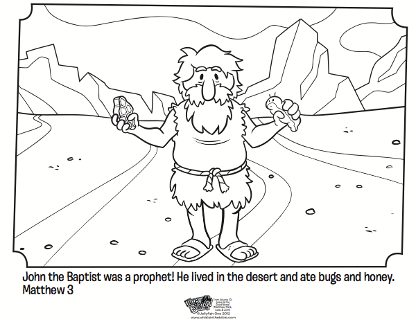John The Baptist Coloring Page Activity Matthew Mark And Luke Lessons