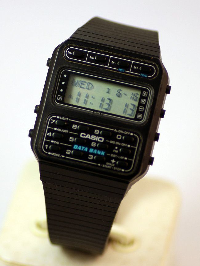 1983 Casio Cd 40 The First Data Bank Calculator Watch Vintage