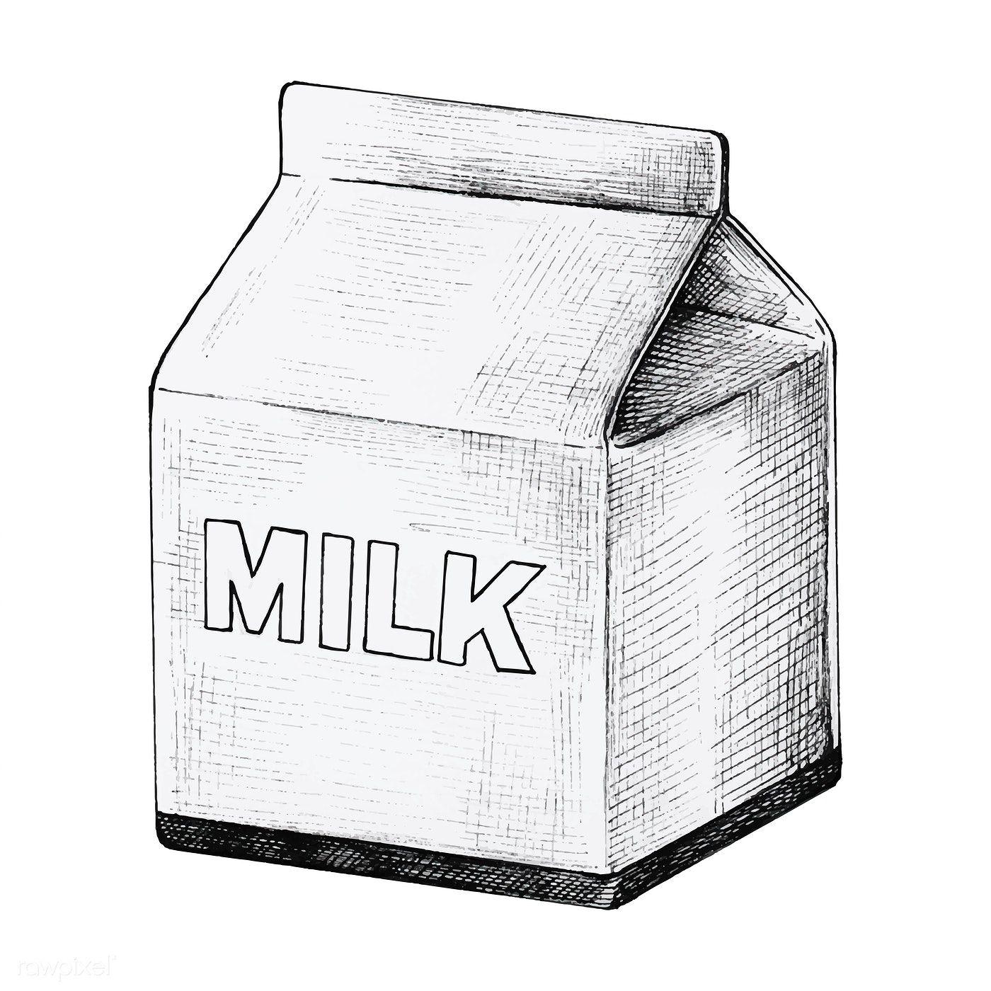 Download Premium Vector Of Hand Drawn Small Carton Of Milk Vector