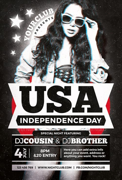 4th of July Independence Day Flyer Template - https\/\/ffflyer - independence day flyer