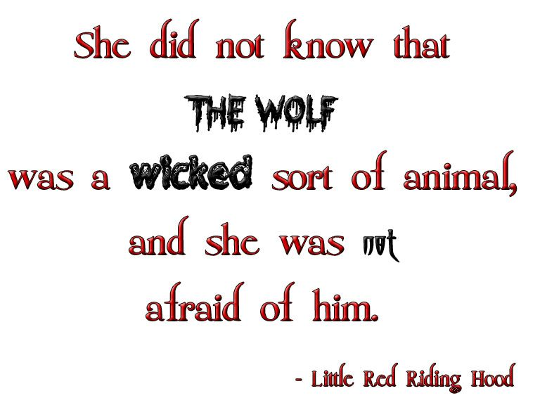 Little Red Riding Hood Lines