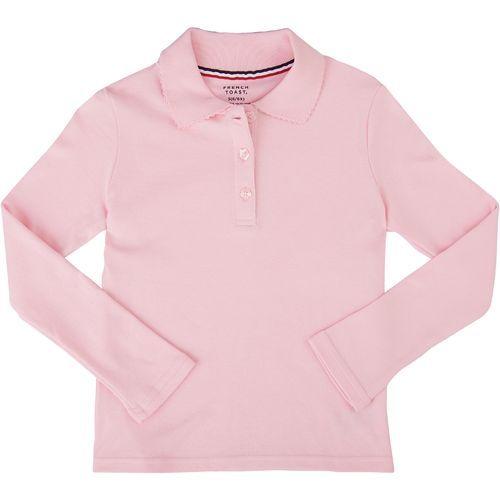 New FRENCH TOAST School Uniforms Girls/' Sz 4 POLO SHIRT w// Picot Collar Blue