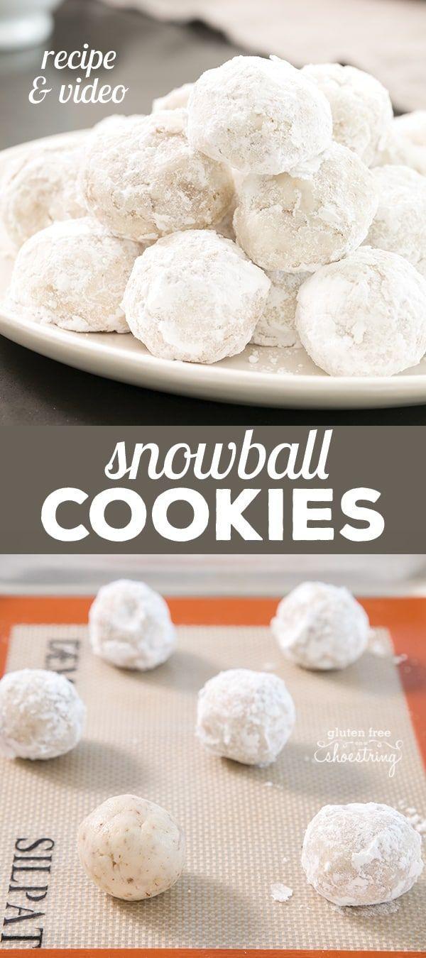 Gluten Free Snowball Cookies Mexican Wedding Russian