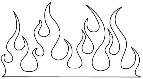 Flame Designs To Color
