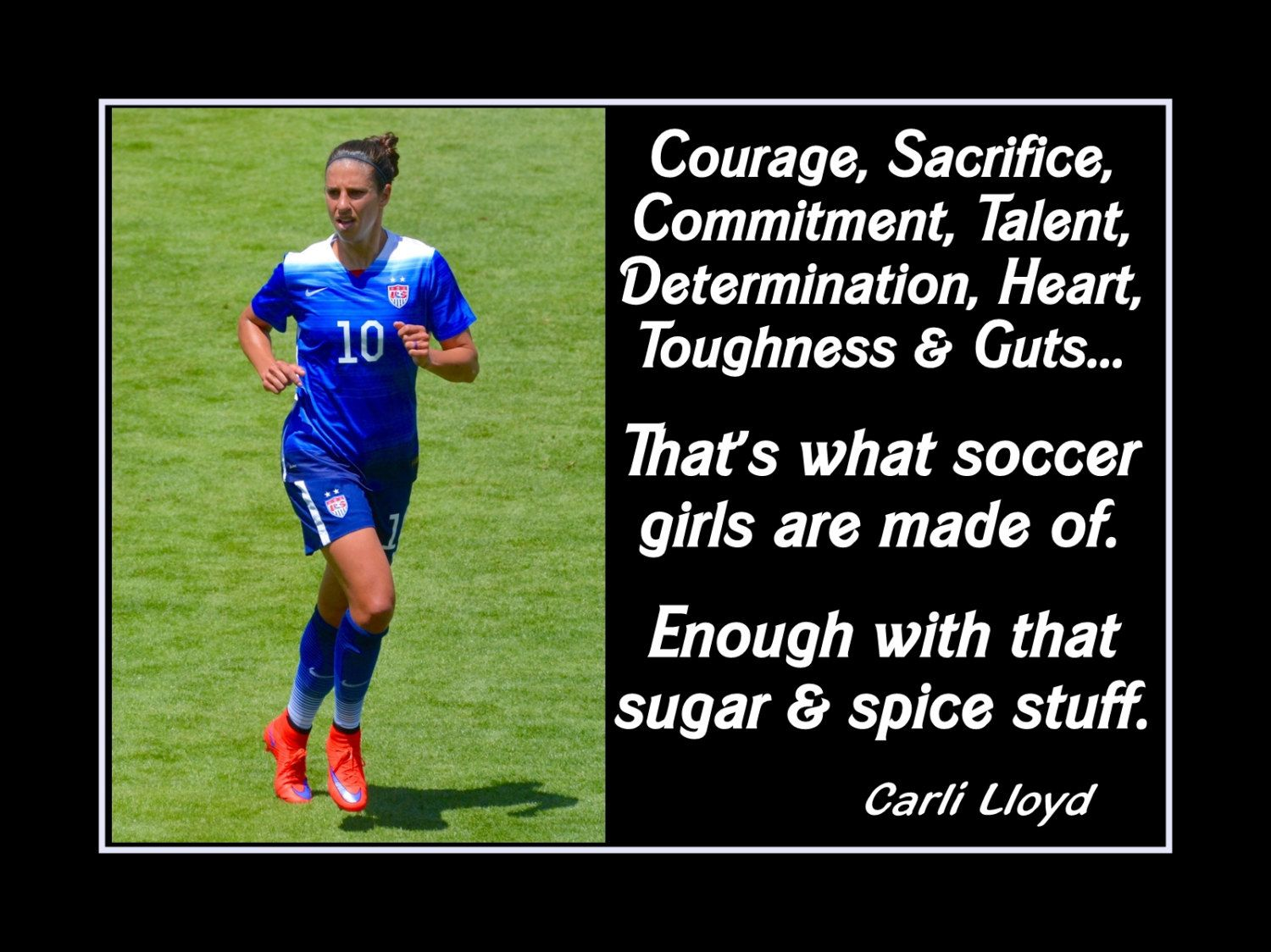 Soccer Motivation Quote Wall Art, Gift, Inspirational