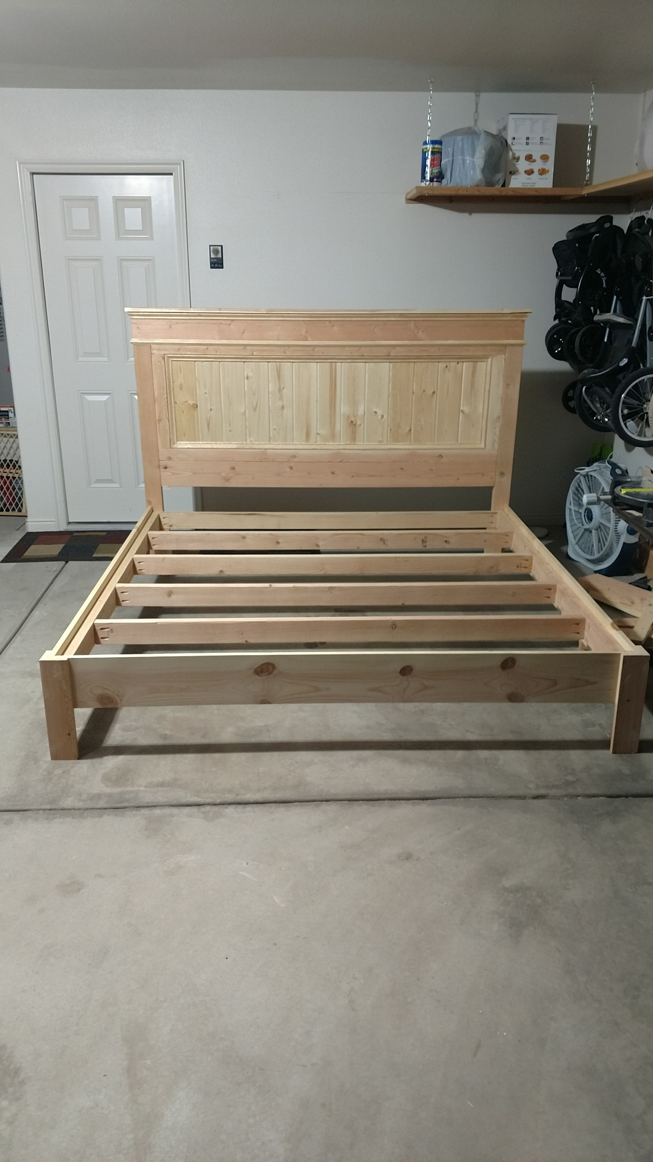 Ana white king bed frame diy projects woodworking projects diy