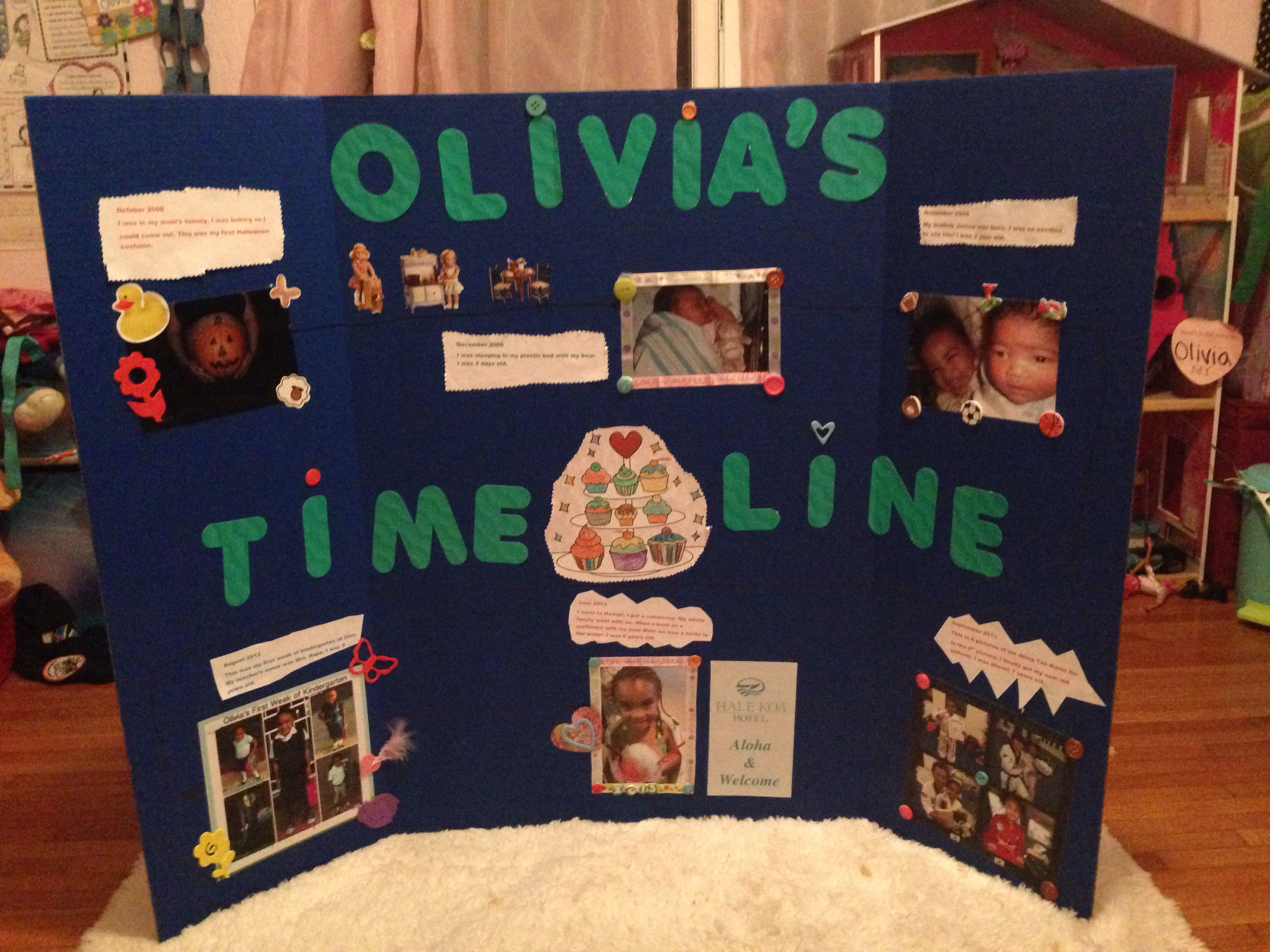 how to make a creative timeline for school project