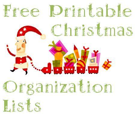 Use these free printable Christmas organization lists to get ready - free printable christmas lists