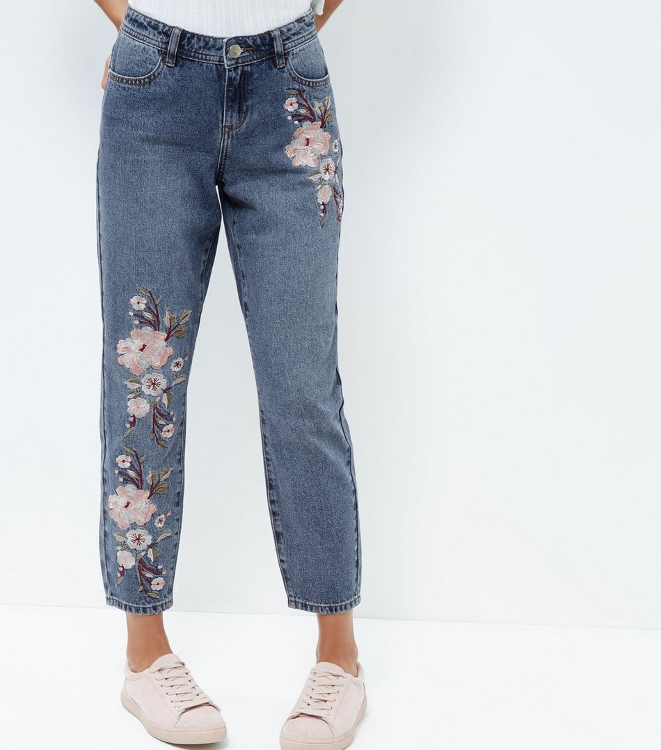 Womens Floral Straight Jeans New Look bERS6G49