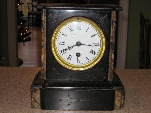 Antique Marble Mantel Clock Antique Clocks Clock Antiques