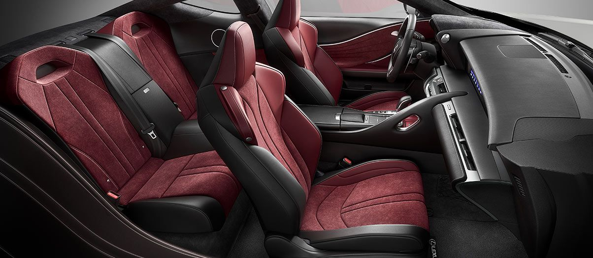 2018 Lc 500 In Rioja Red Leather With Satin Metallic Trim Angle 2