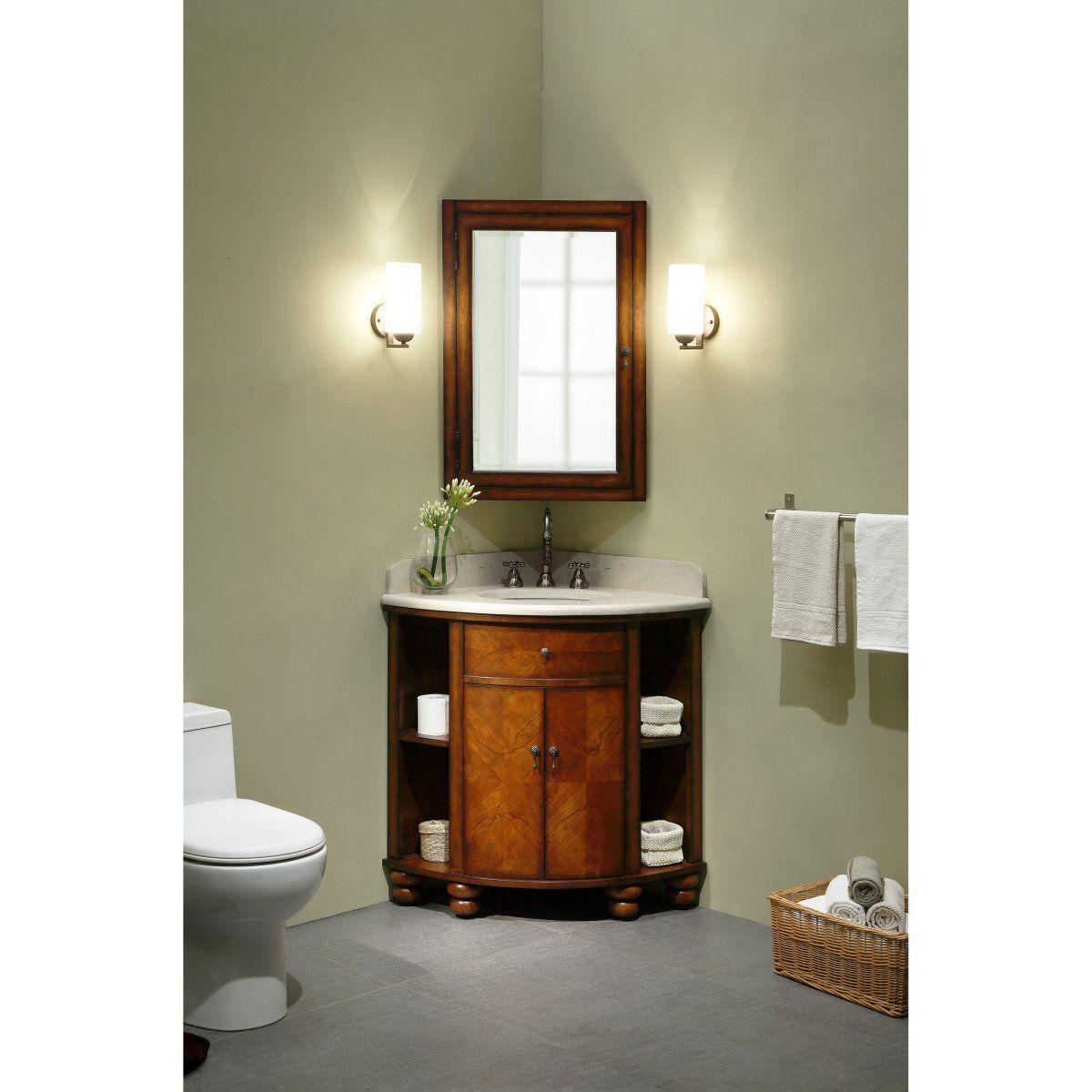 Corner single bathroom vanity home decor corner sink - Corner vanities for small bathrooms ...