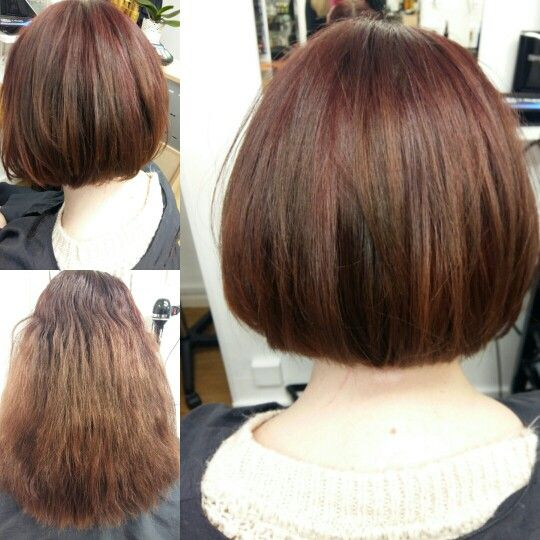 Lady came in with very damaged hair after she had tried to strip ...