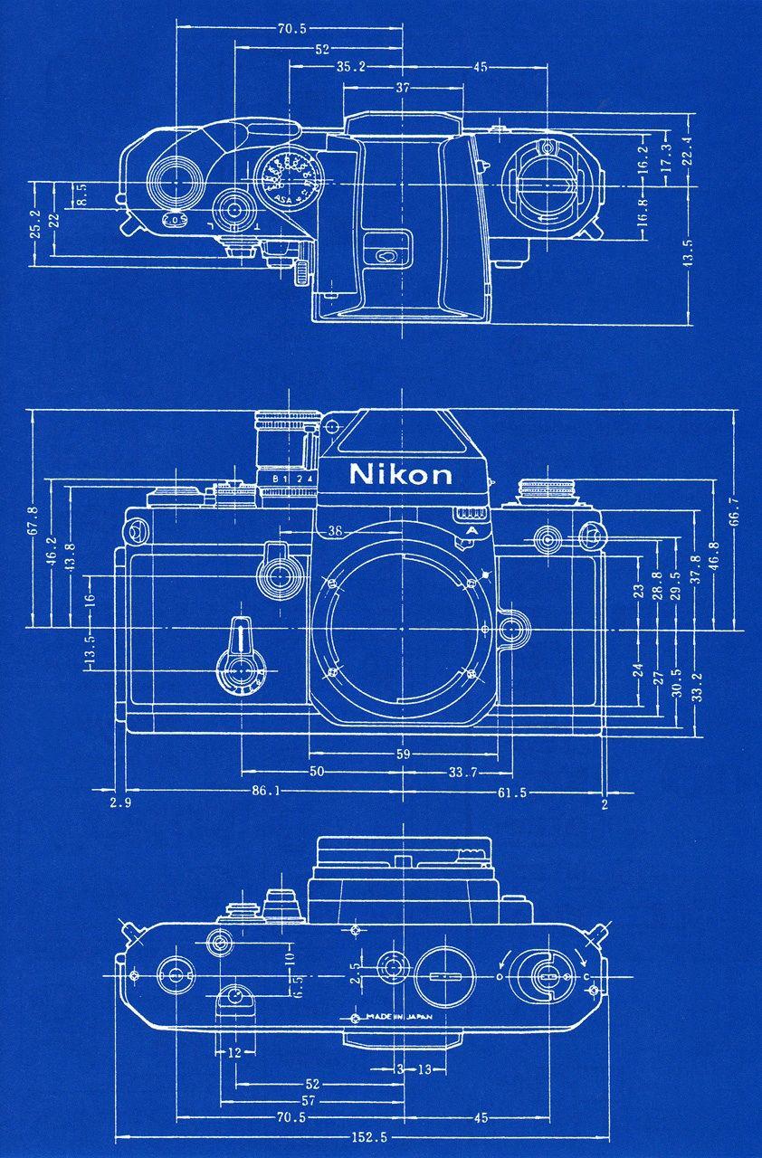 Nikon f2 blueprint | GRAPHICs, COMMunications ARTs, Politi ...