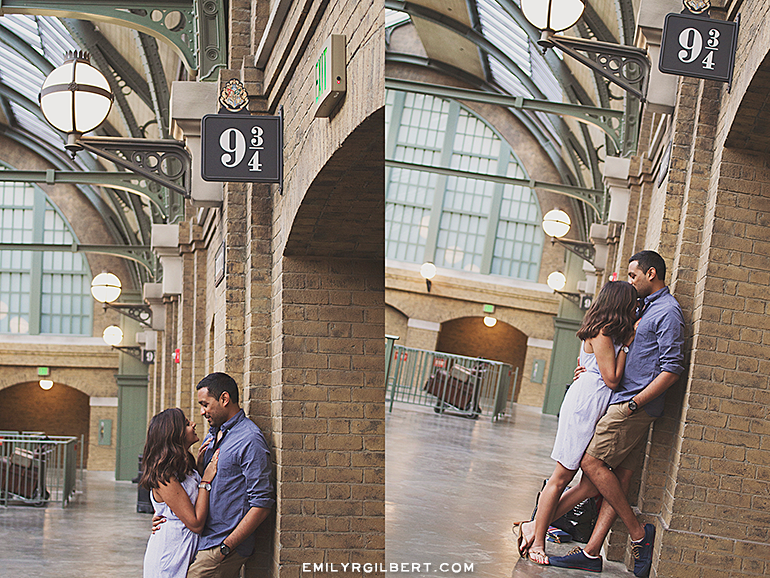 Proposal In Front Of Hogwarts Castle Wizarding World Engagement Photos Emilyrgilbert Harry Potter Wedding Photography Ideas Platform 9 And 3 4