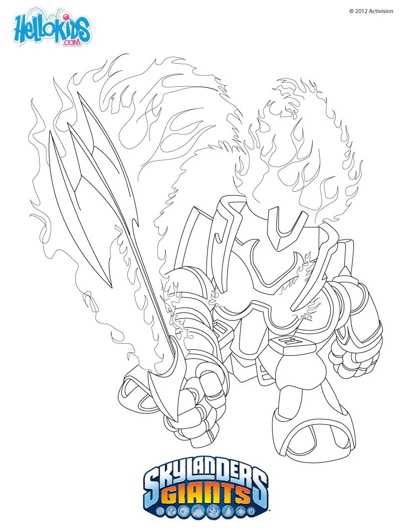 Ignitor Coloring Page Coloring Pages Princess Toys Skylanders