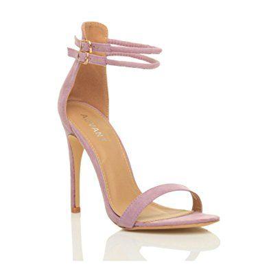 Damen Hohen Absatz Kaum Dort Fesselriemen Schnalle Stilettos High Heels Sandalen  Schuhe Größe: Amazon.de: Schuhe & Handtaschen