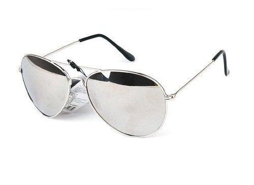 d2c0db3f7740a Lunettes de soleil Aviateur – Pilote – Fbi – Monture argent – Verre effet  miroir – Fashion tendance  – Lunettes de Soleil Style Aviateur –…