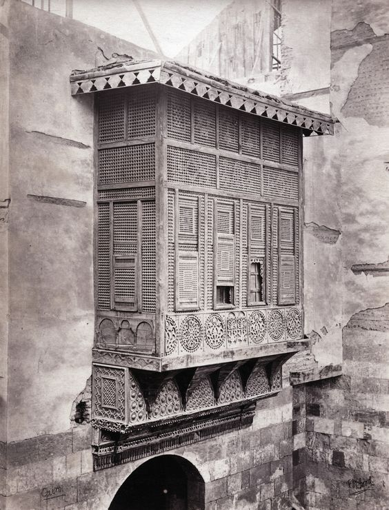 Mashrabiya windows Cairo, Egypt 1865 | Egypt, Old egypt, Modern egypt