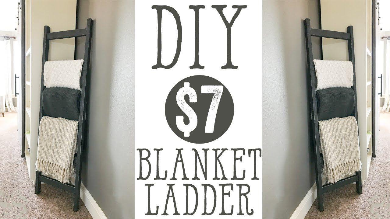 DIY 7 Blanket Ladder YouTube Diy blanket ladder