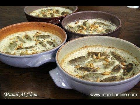 صينية الكفتة بالطحينة مطبخ منال العالم So Yummy Meat In Yogurt Sauce Egyptian Food Cooking Recipes Recipes