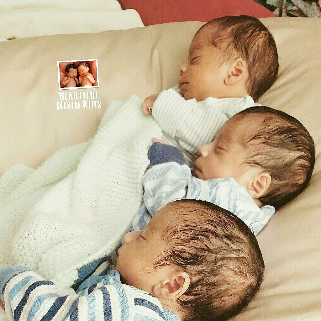 Kayson Omari Dimarco Newborn Triplets Mom Indian Dad