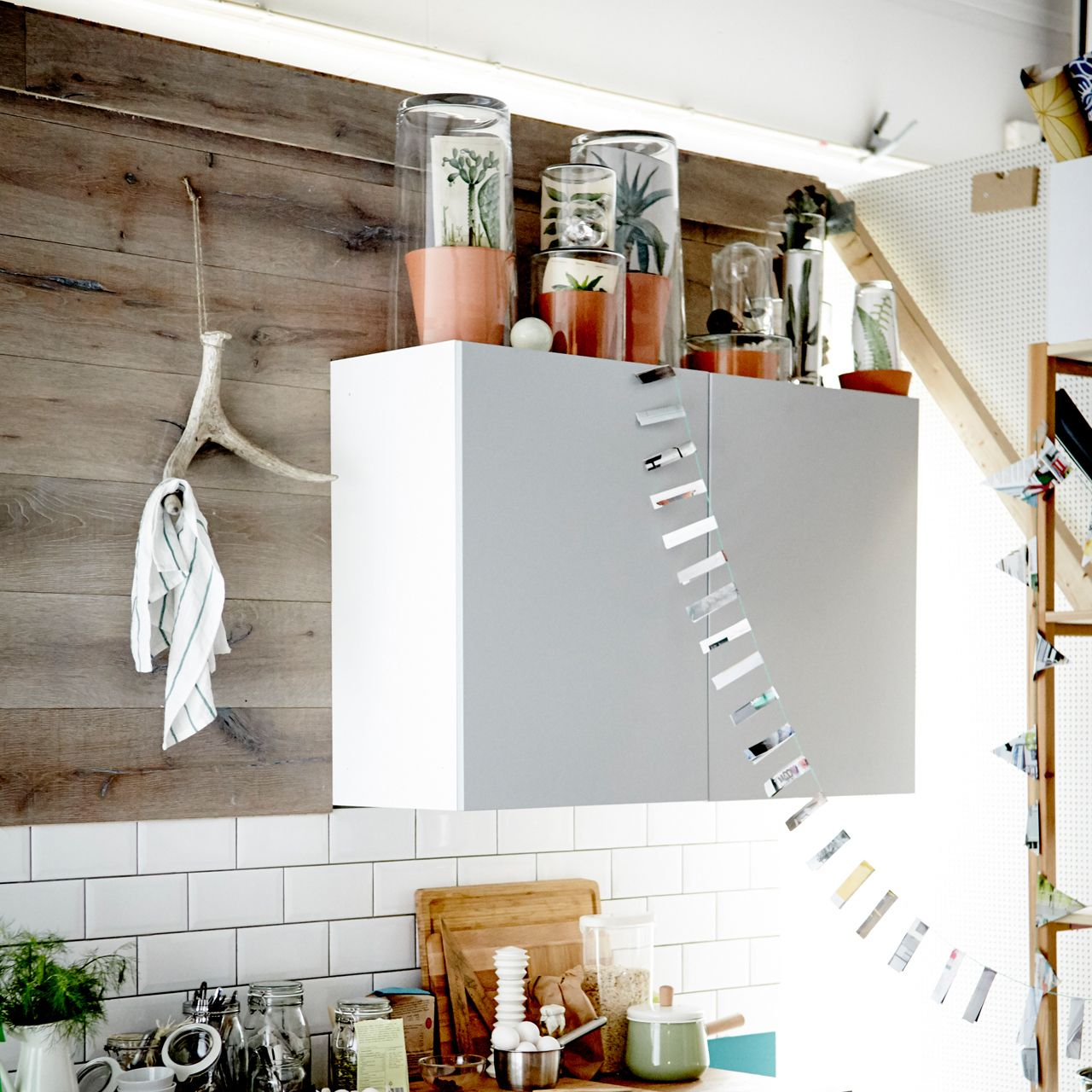 Transform the space above your kitchen cabinets into your own secret ...