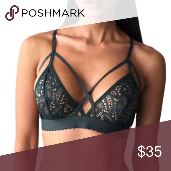 74312963669 2 for 30 Black Strappy Harness Bralette Bra Harnesses are the hot new thing  and we