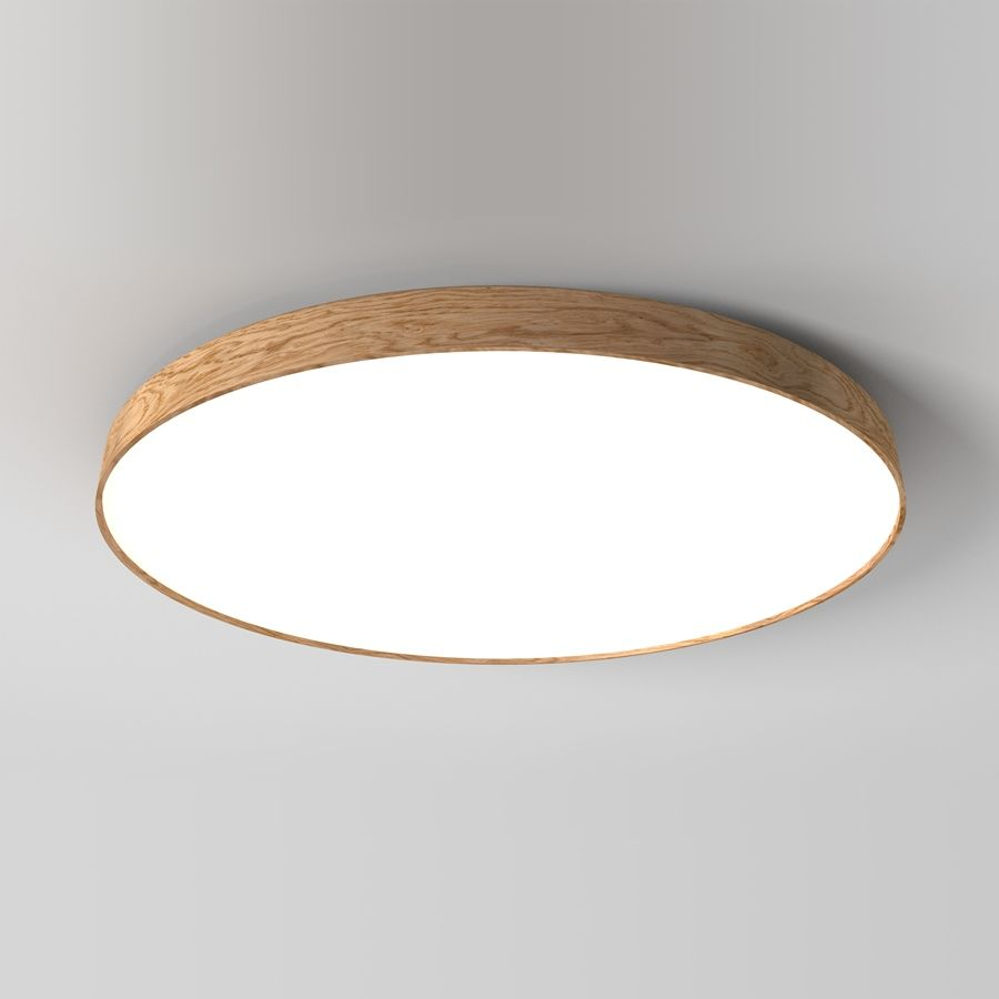 Woodled Soft 1200 Wooden Lamp In Recessed Version With Built In