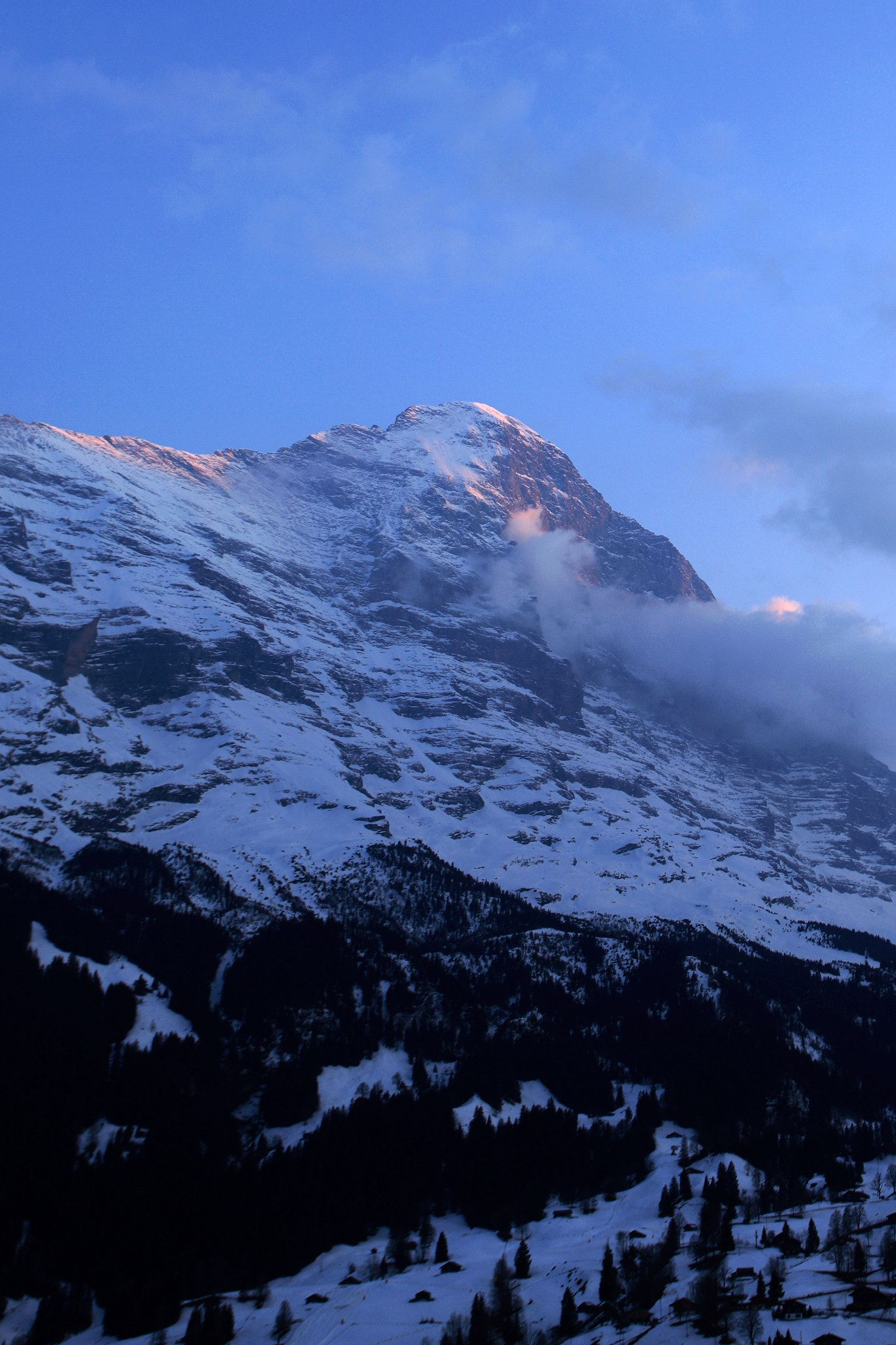Winter snow view over the North face of the Eiger mountain Grin - Winter snow view over the North face of the Eiger mountain Grindelwald Ski resort; ... & Winter snow view over the North face of the Eiger mountain Grin ...