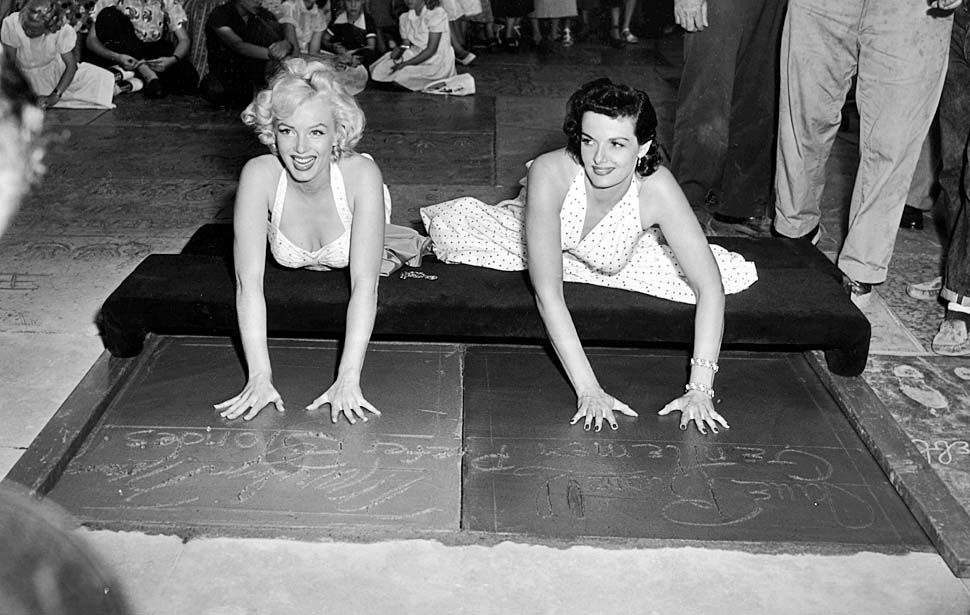 June 27, 1953: Marilyn and Jane Russell
