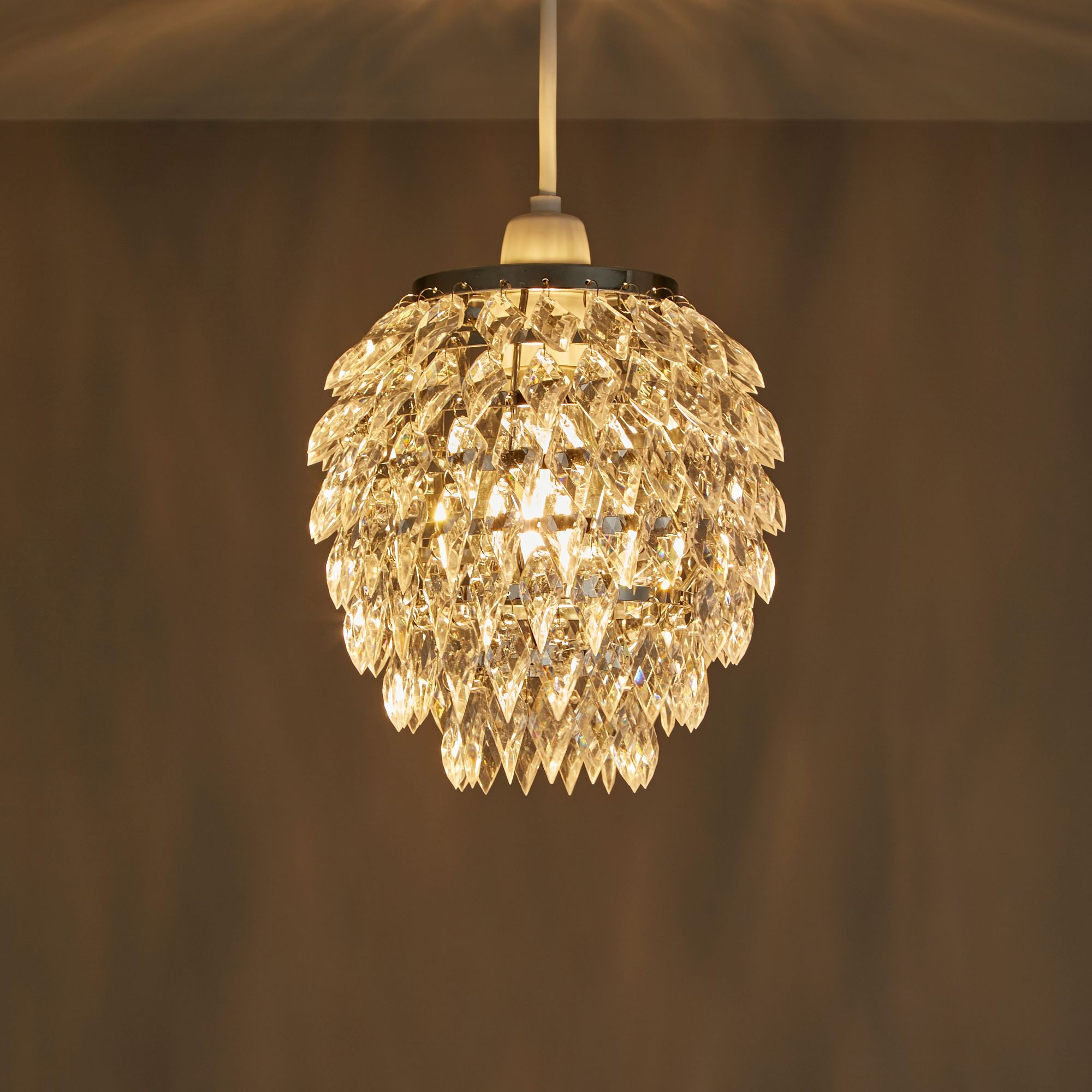 Becca Clear Crystal Effect Beaded Pineapple Light Shade (D)170mm ...