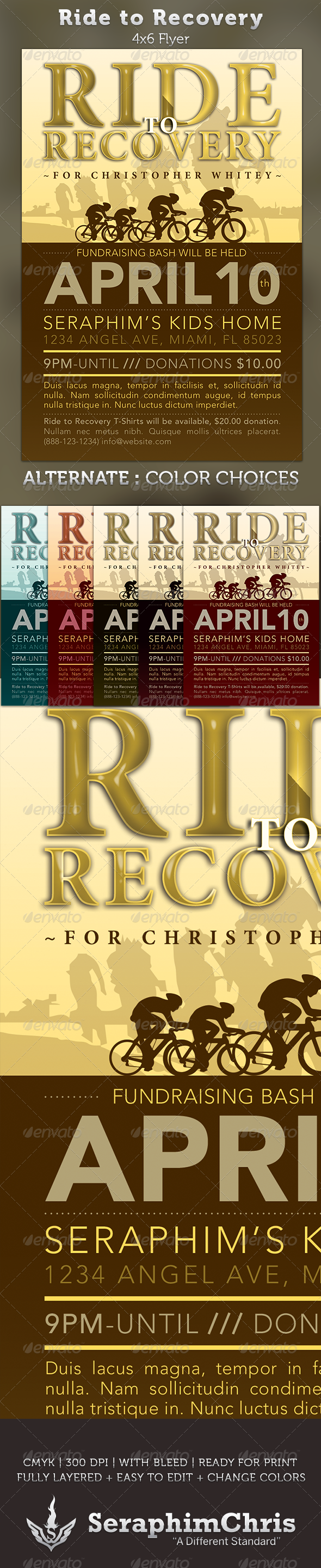 Ride to Recovery: Fundraiser Flyer Template - $6.00