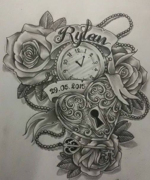 I Would Have This On My Upper Arm With My Wife S Name And The Date We Married Locket Tattoos Tattoos For Daughters Tattoo Designs