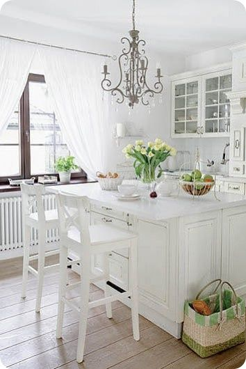 White, white and a tiny splash of colour