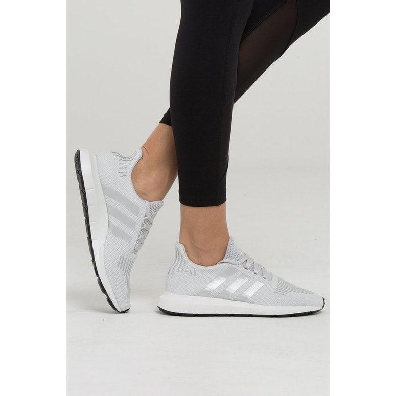 e7ac733d2696f Adidas Originals Women s Swift Run Grey Silver White