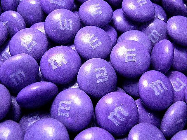 Purple m&ms !!!