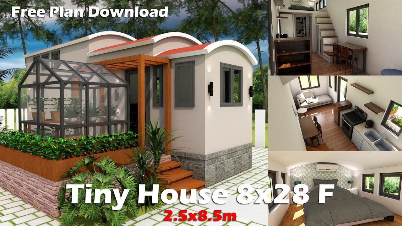 Tiny house plan with interior and plan download free | Architecture ...